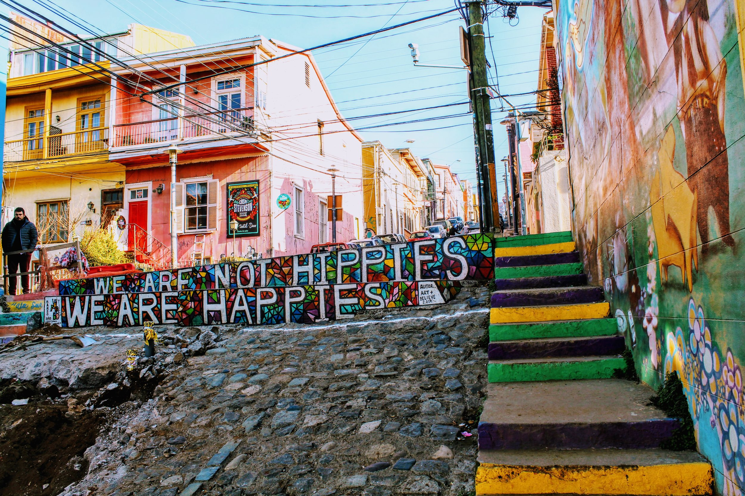 We are not hippies, we are happies. Not my favorite.