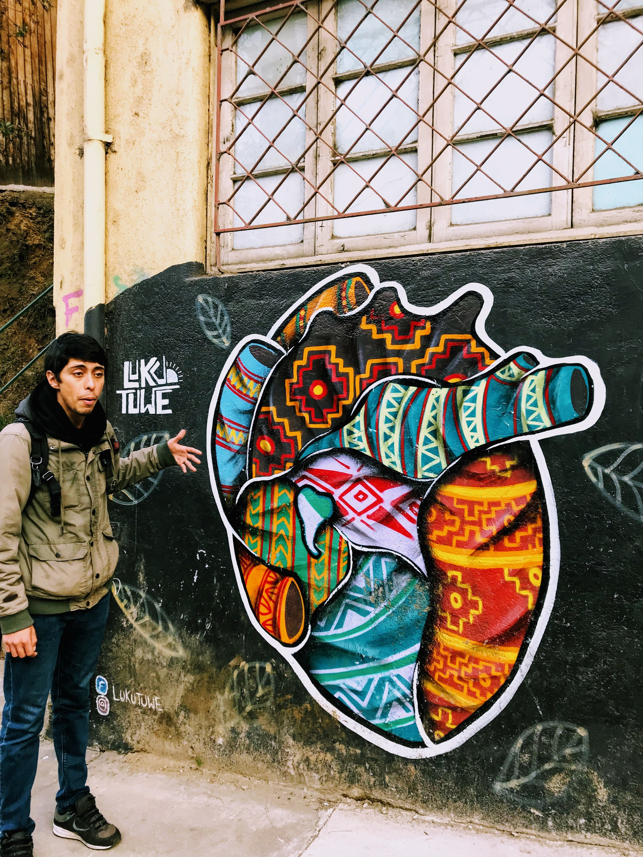 Eddie teaching me about the badass world of graffiti and street art