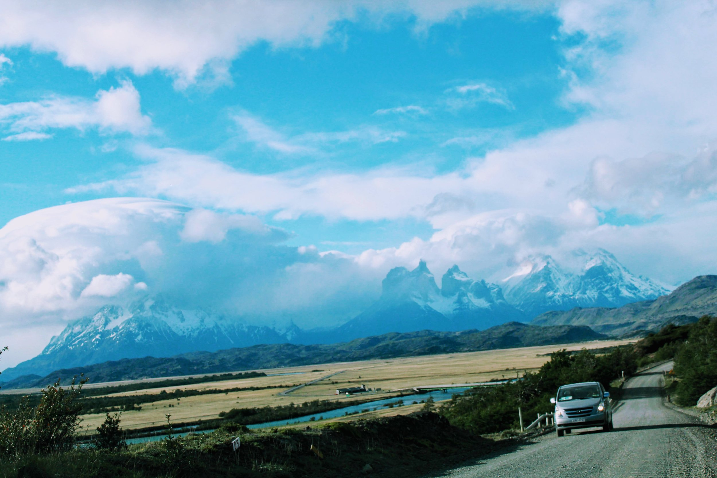 Road trip in Torres del Paine National Park