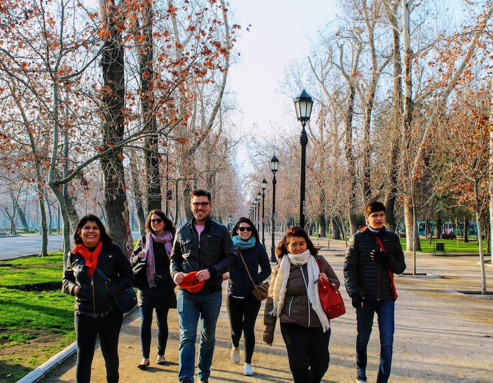 Parque Forestal in Santiago Chile