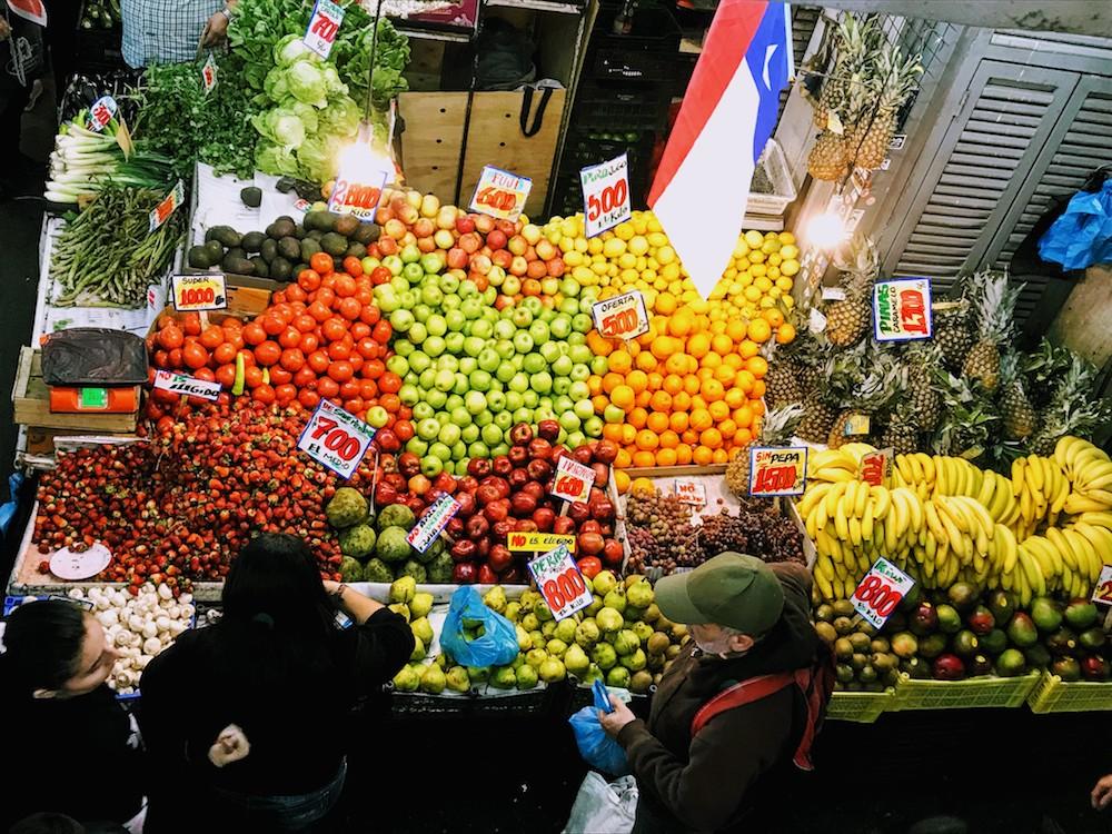 Tirso de Molina market in Santiago Chile
