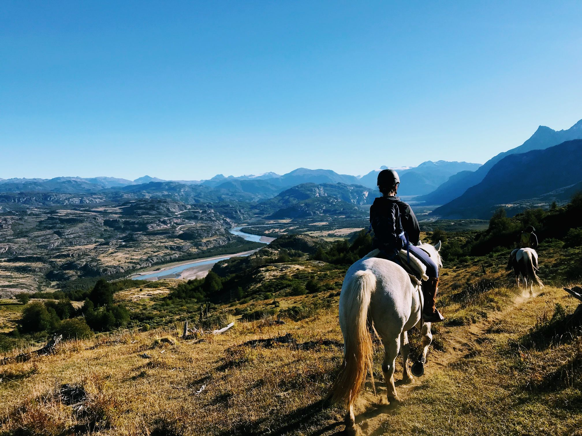Horse riding in Patagonia, Chile