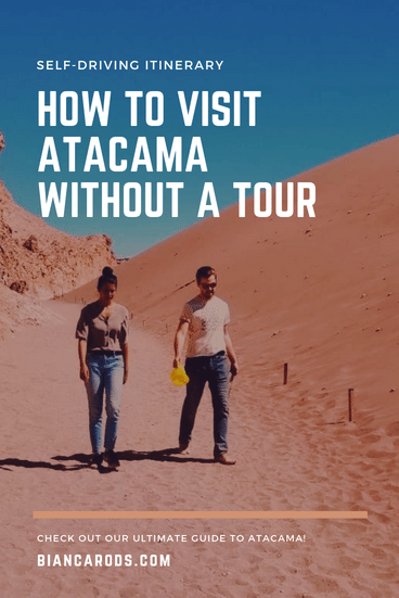 Atacama Desert without a tour