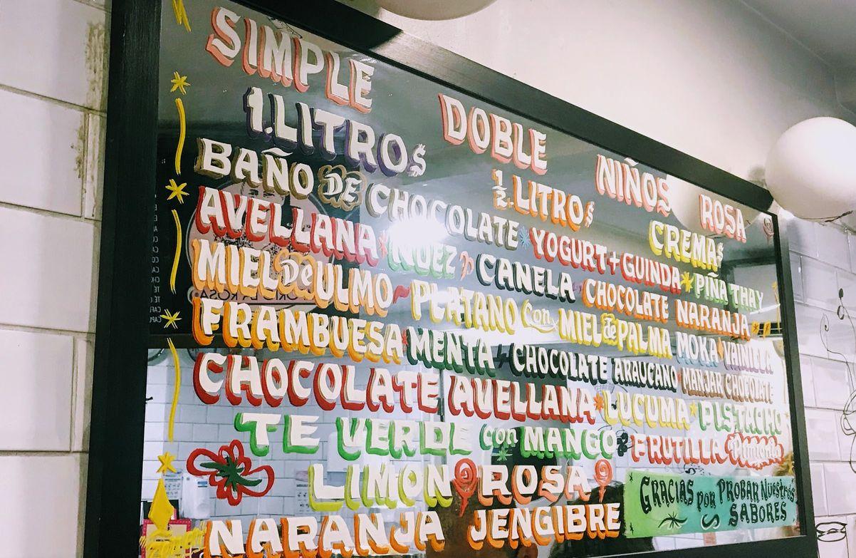 Zenen lettering in Emporio la Rosa