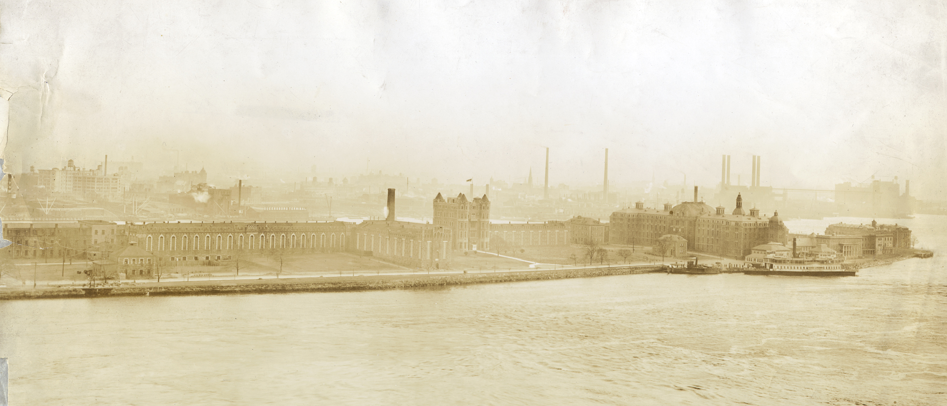 Southern half of Blackwell's Island with Riverside Hospital at southernmost tip, New York City Municipal Archives