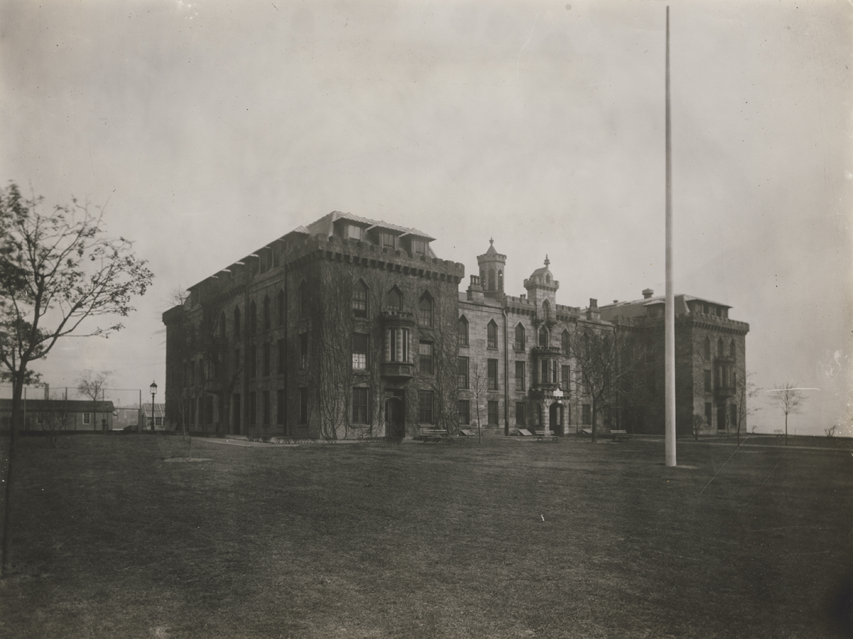 Addition of the northern and southern wings were added after the hospital was converted to a nursing school, New York City Municipal Archives