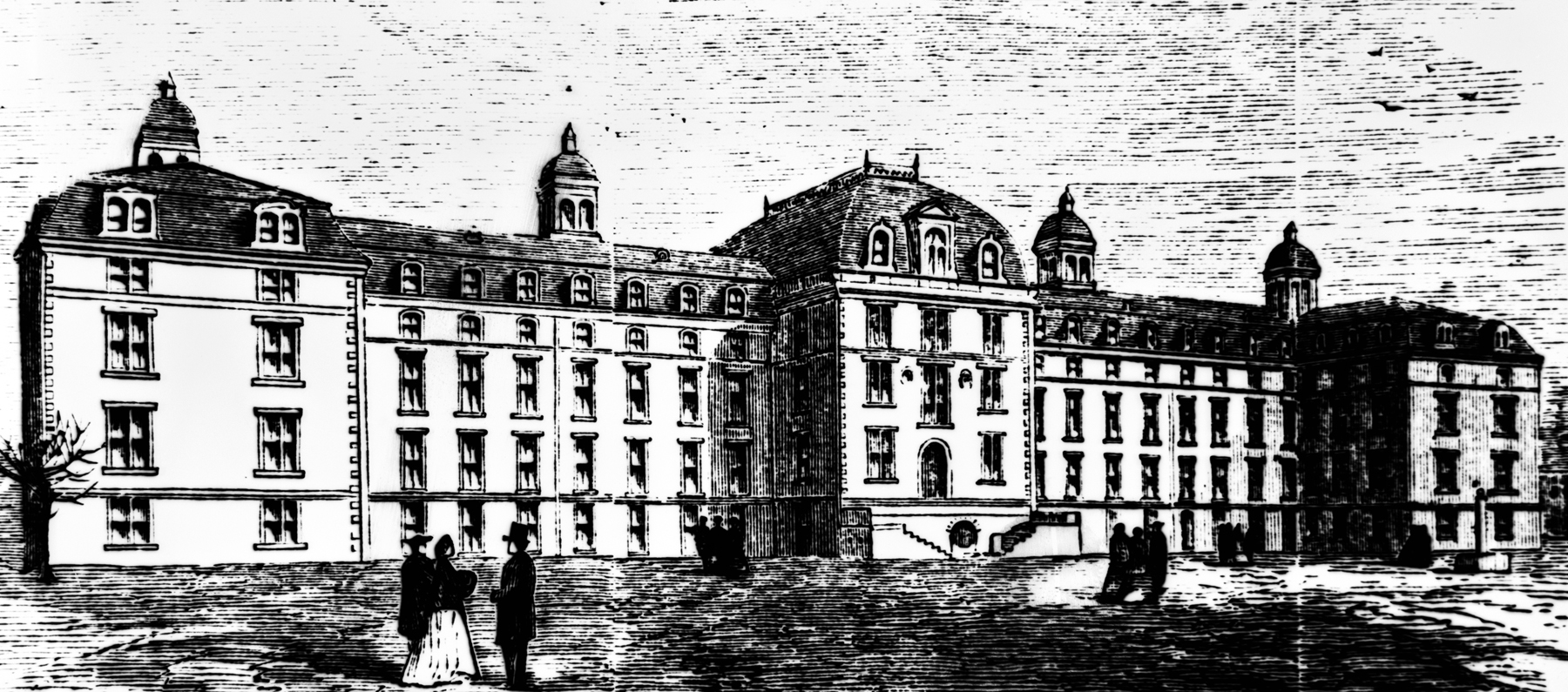 Architectural rendering of the City Hospital, Library of Congress