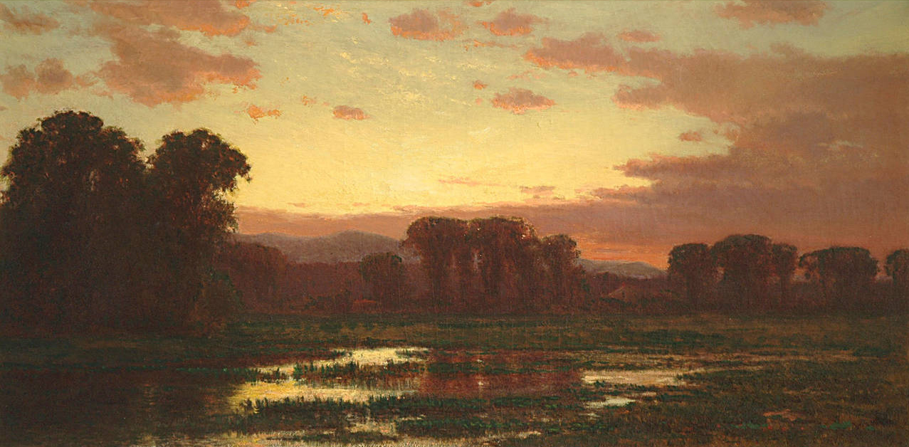 A landscape painting by James Renwick Brevoort, cousin of James Renwick, Jr.