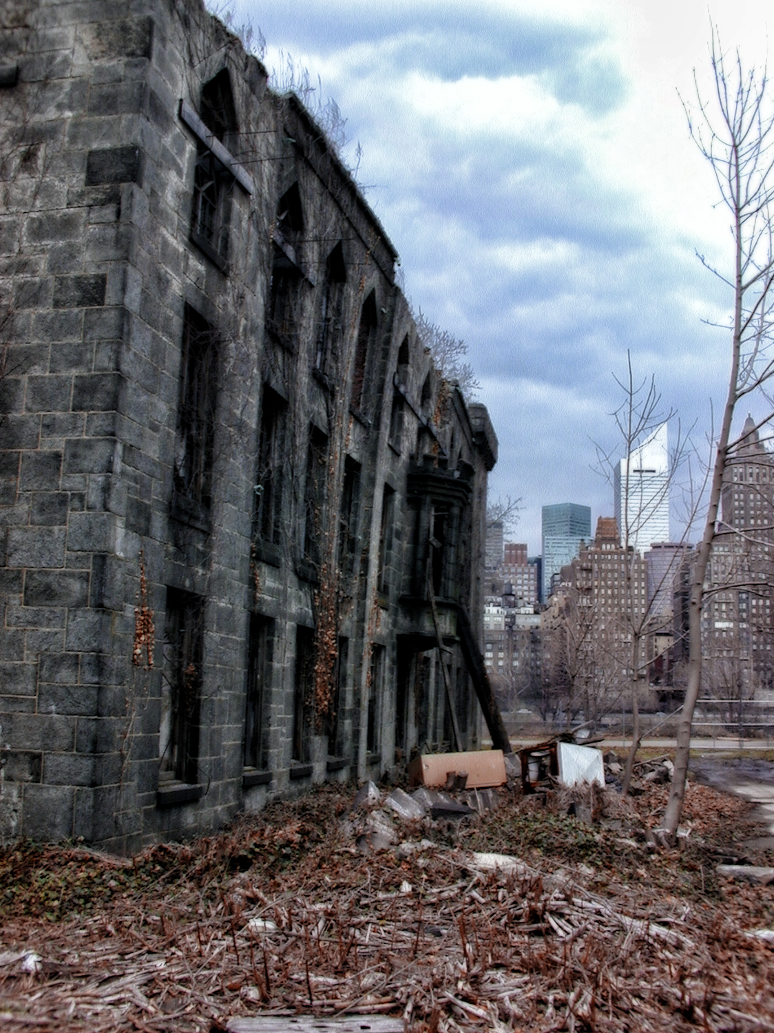 Vogel's photograph depicts the northern façade a few months before its collapse, Timothy Vogel