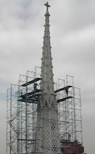Spire Scaffold Before-Note Lean at Top 20 Feet.jpg