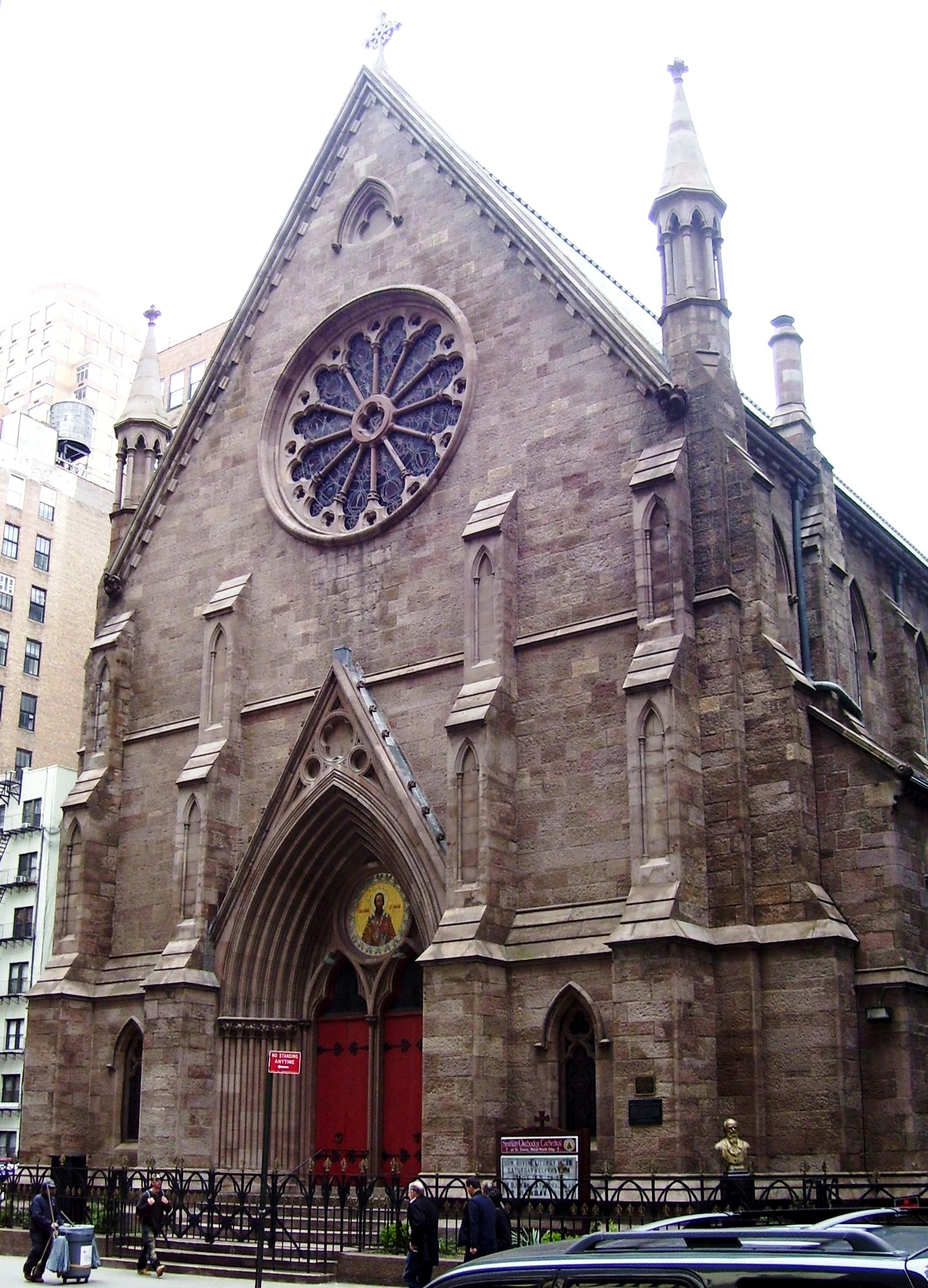 The landmark Richard Upjohn cathedral was located in Manhattan on 25th street and Broadway, Beyond My Ken