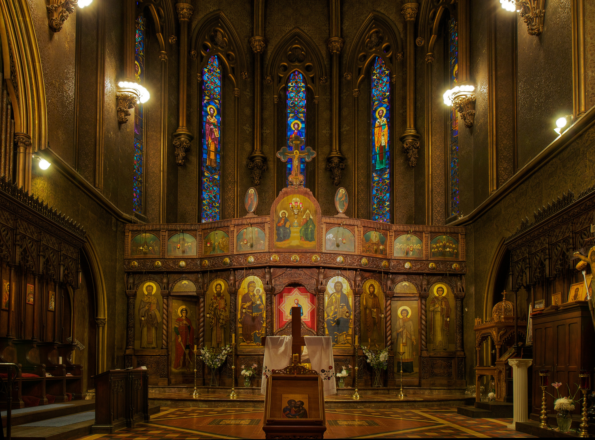 Cathedral interior, Kent G. Becker