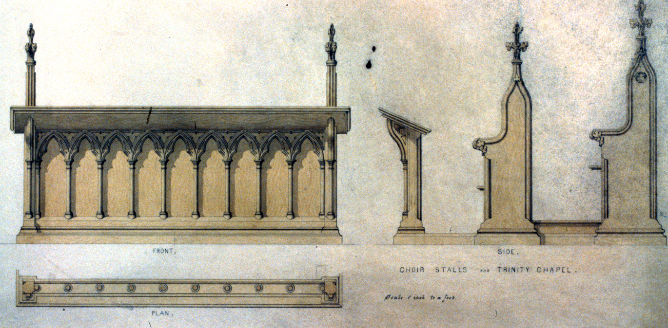 Architectural detail of the choir stalls, Library of Congress