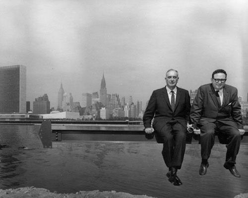 Robert Moses and Arnold Newman side by side, Arnold Newman Archives