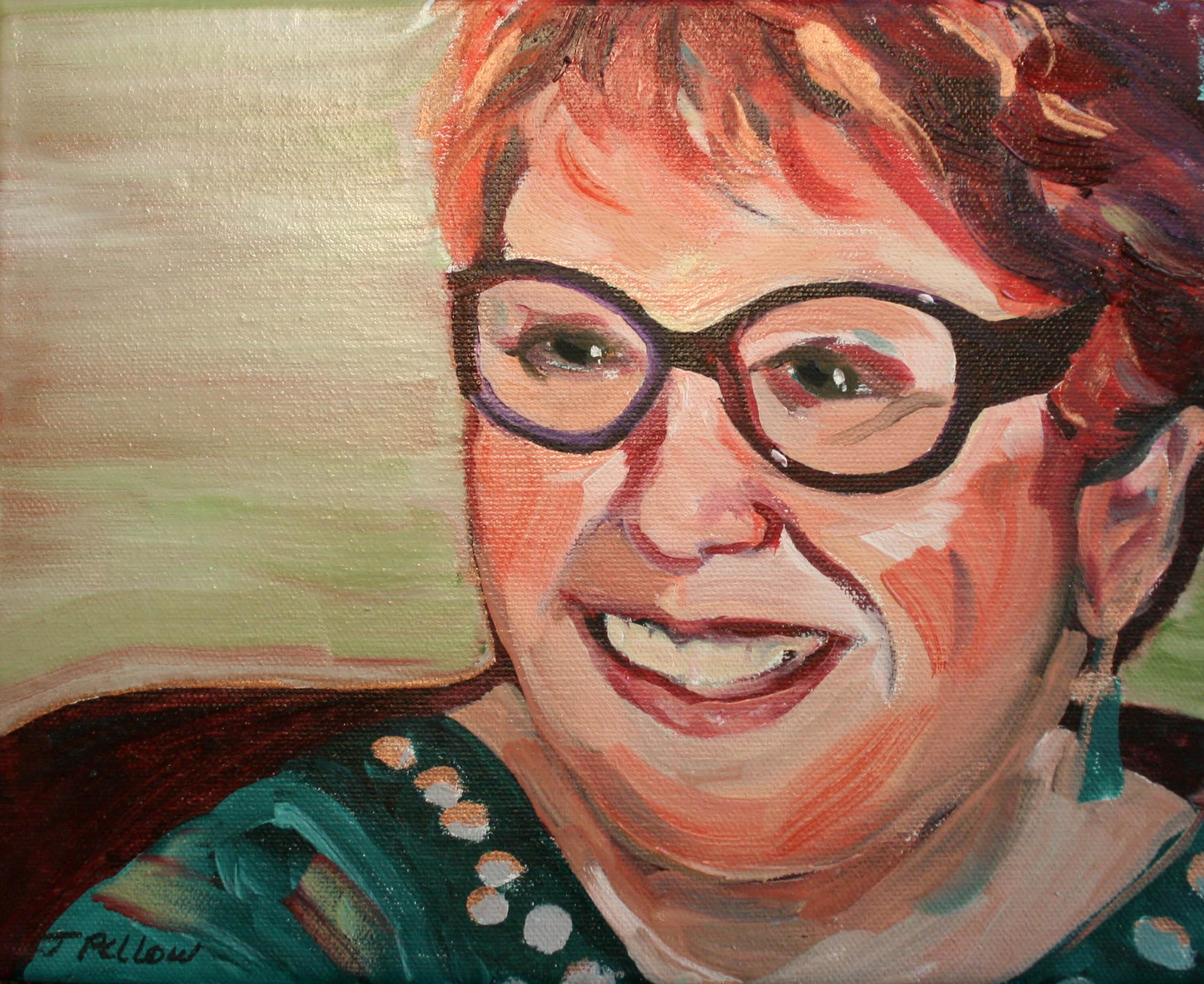 Portrait of Elaine Mills by Jackie Pellow