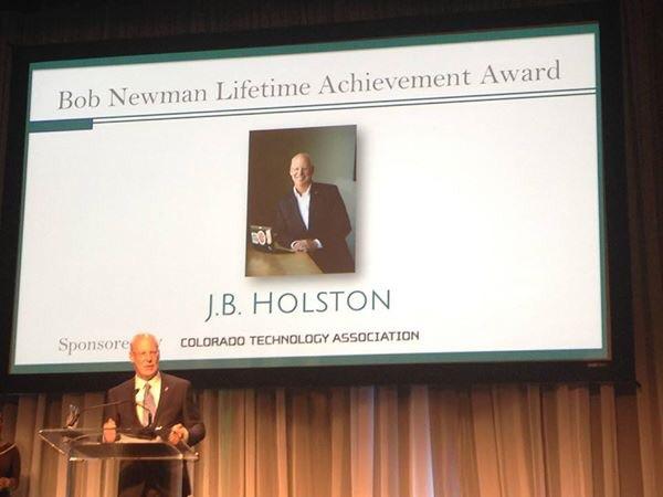 Bob Newman Lifetime Achievement Award winner J.B. Holston