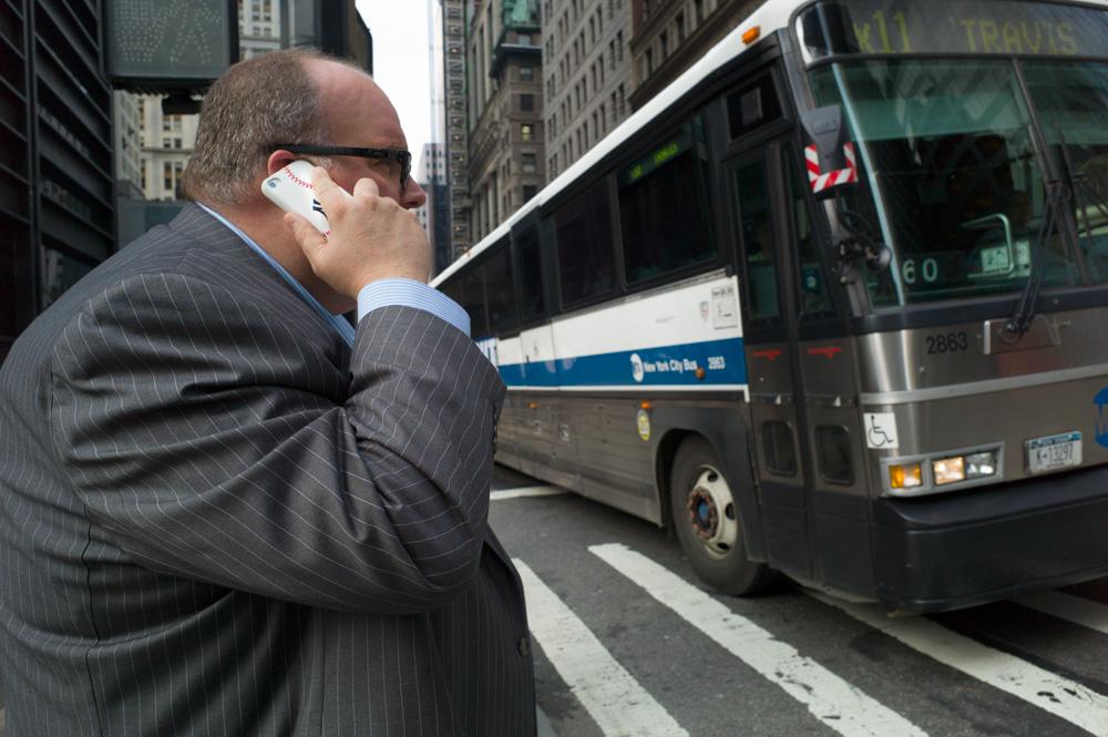 Yankees Fan, Broadway & Liberty St., New York 2012