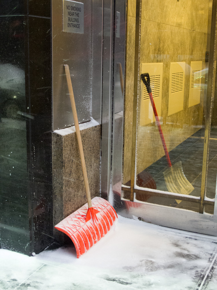 Snow Shovels, 160 Broadway, New York 2010