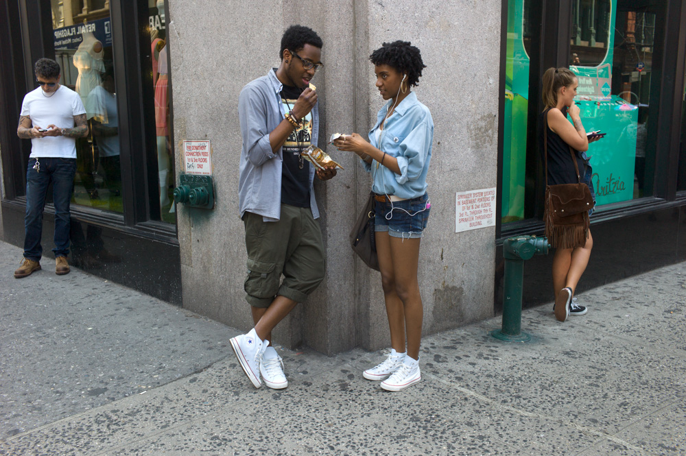 White Converse, Broadway & Spring Street, New York 2012