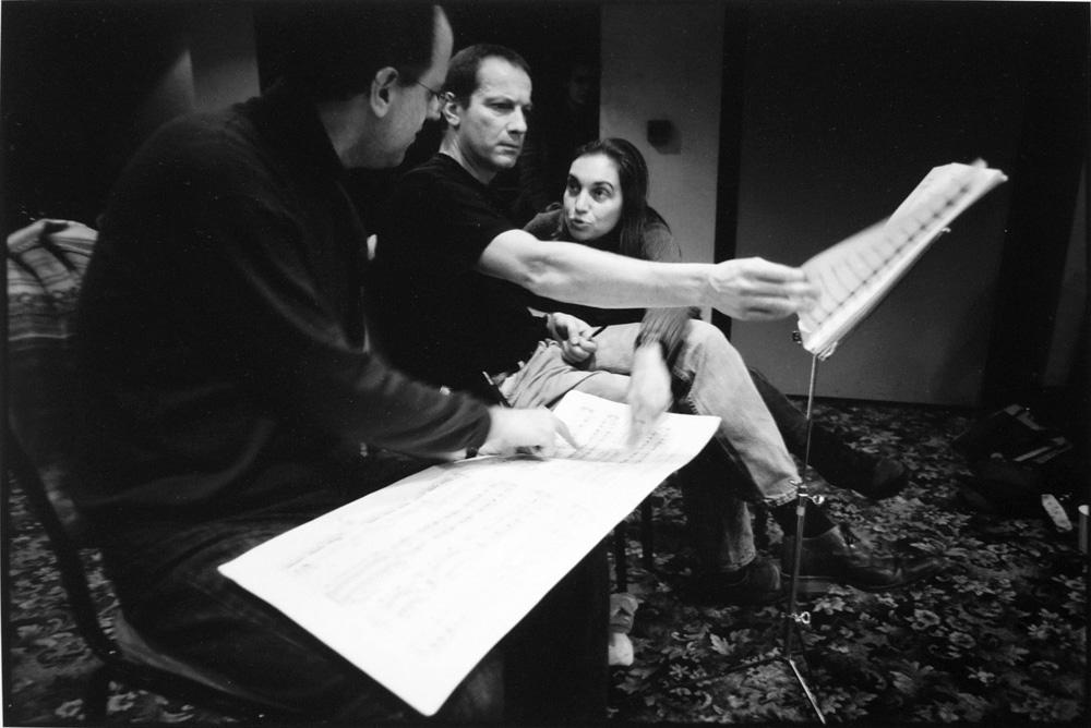 Pianist Aaron Shorr & composers Nigel Clark and Sidika Özdil, Ankara, 2003