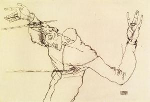 Self-Portrait as St. Sebastian by Egon Schiele