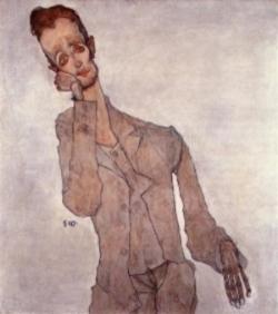 Portrait of Karl Zakovesk by Egon Schiele