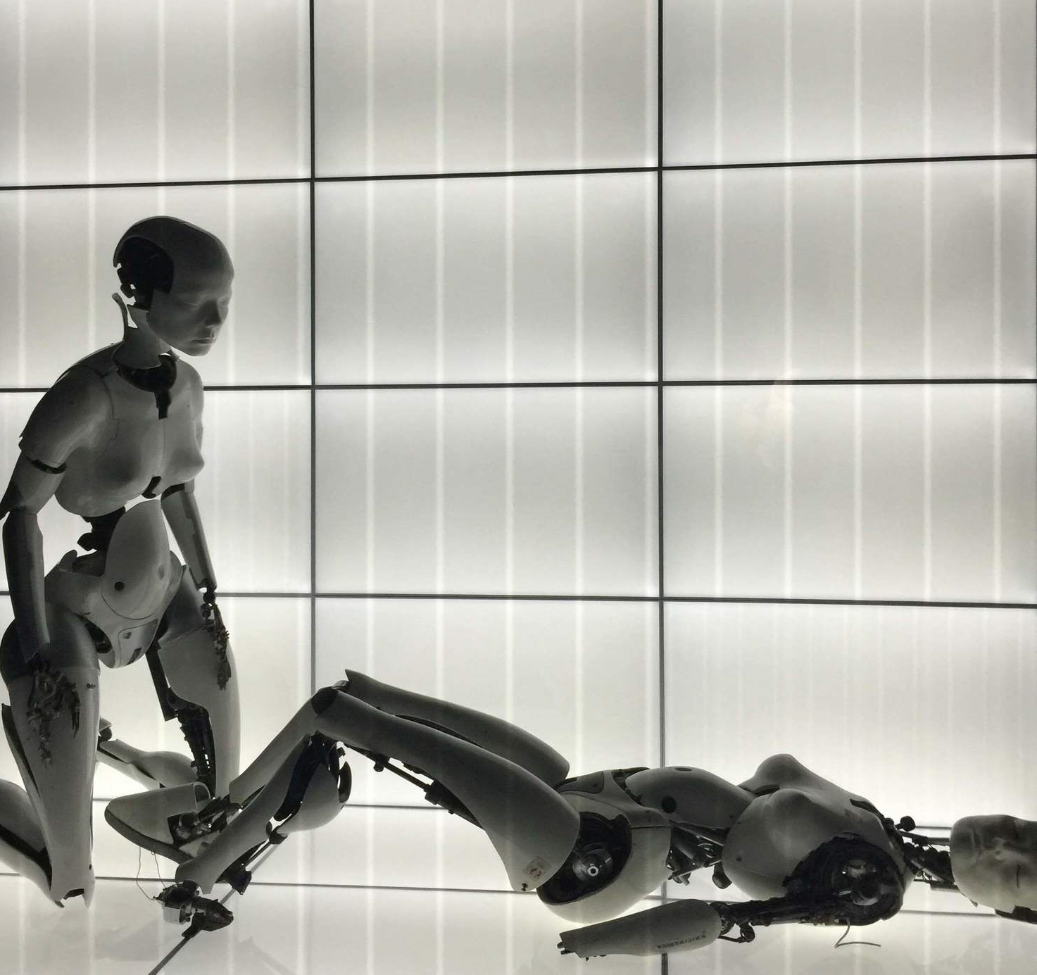 """Robot lovers with Björk facial features from the 1999 music video """" All is Full of Love ."""""""
