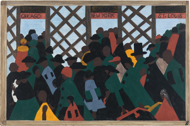 Panel 1: During the World War there was a great migration North by Southern Negroes,  (1940-41).