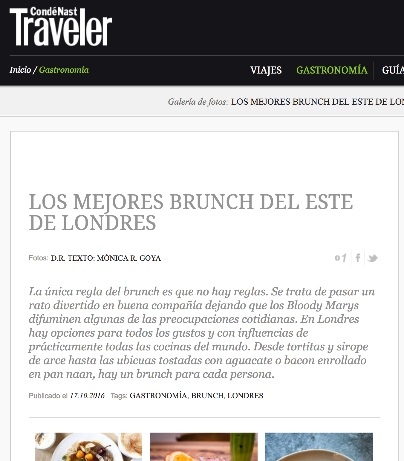 Best brunches in east London - Monica R. Goya