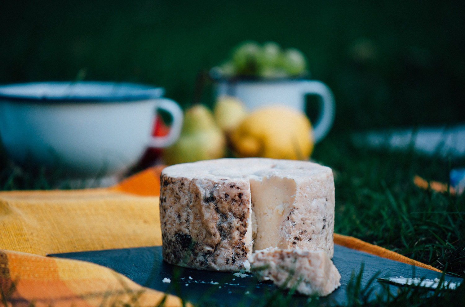 Picnic with Asturian cheese