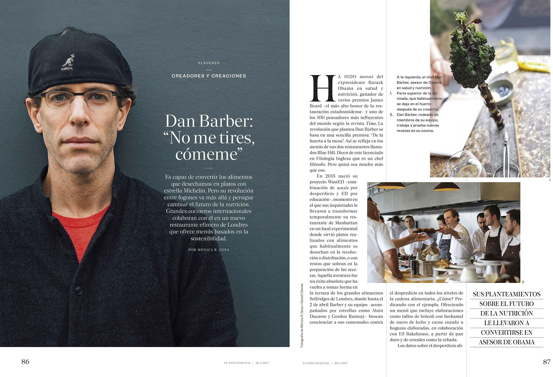 Dan Barber - El País Semanal 26/03/2017 - Words & Photography