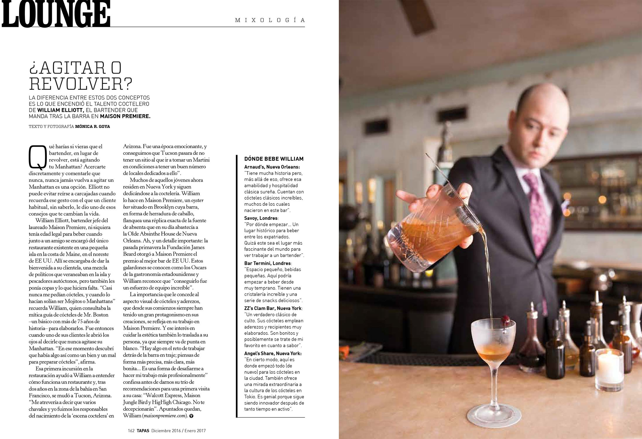 William Elliott of Maison Premiere in NYC - Tapas December 2016 - Words & Photography
