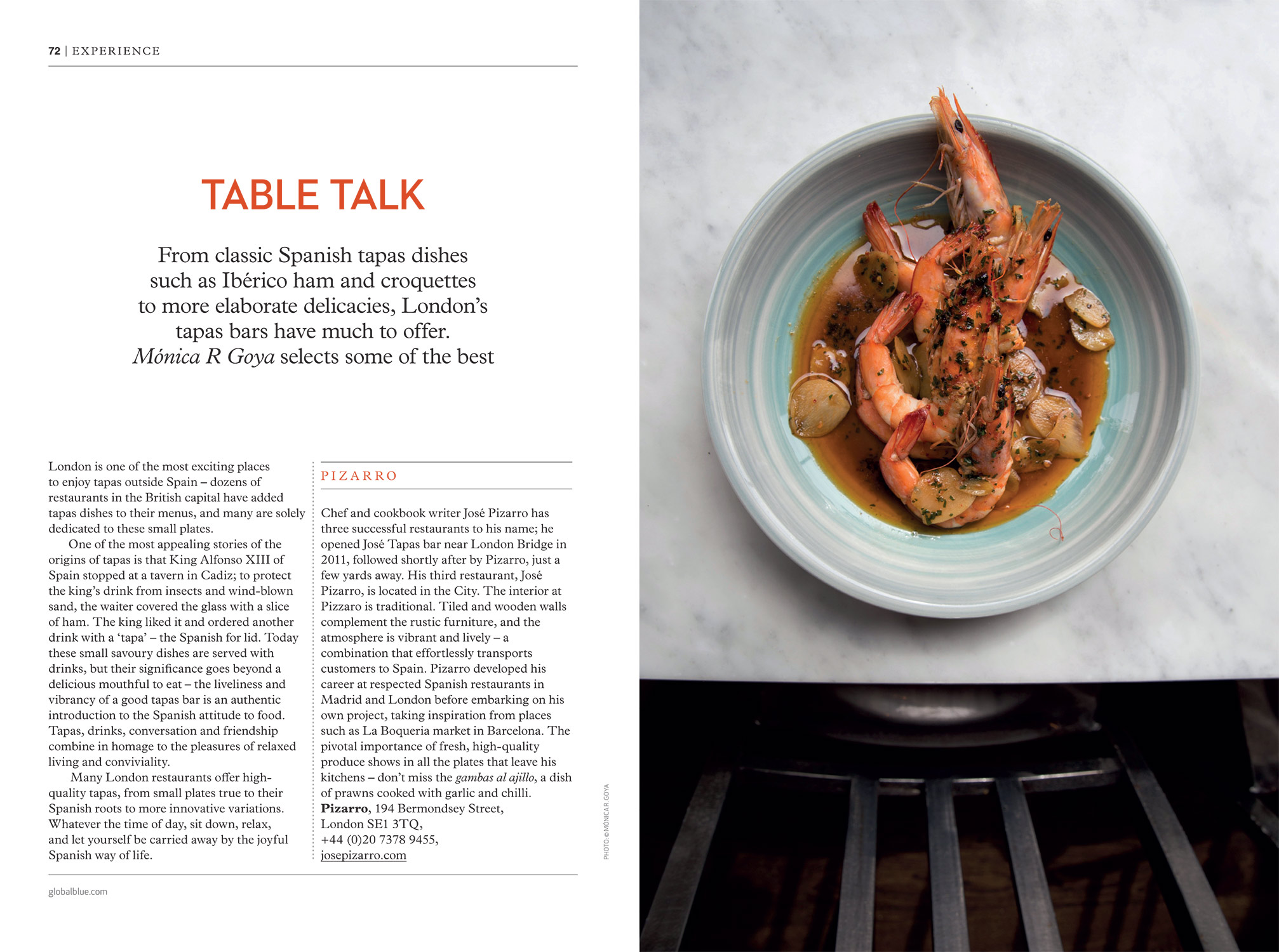 Best Tapas in London - SHOP magazine London Lux edition AW16 - Words & Photography