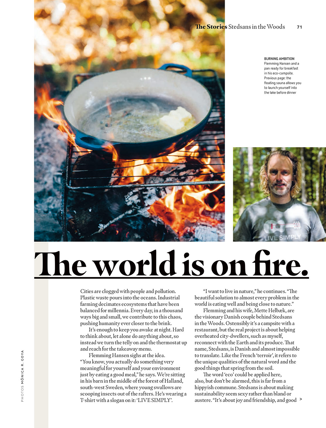 """""""The World Is On Fire"""" - easyJet Traveller October 2018 - photography"""