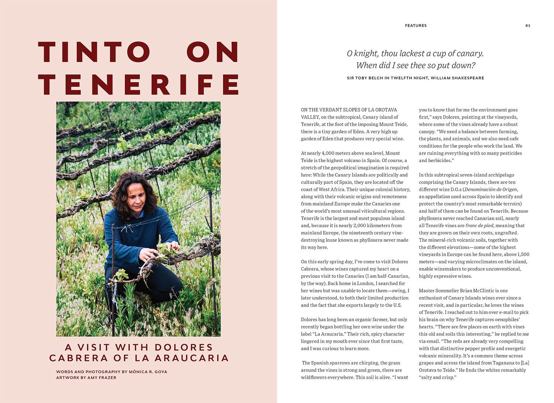 La Araucaria Winery, Tenerife - Pipette magazine Issue 1 - Writing & Photography