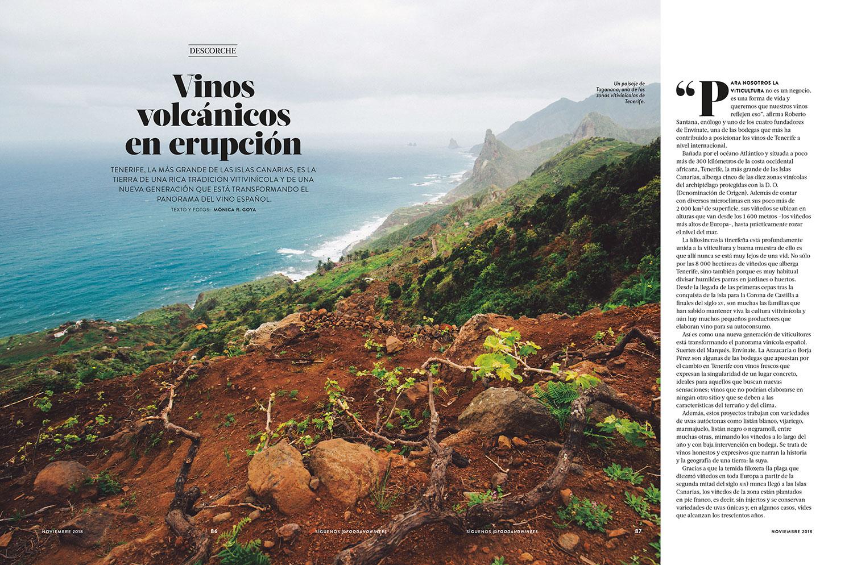 The new young winemakers of Tenerife - Food & Wine en español November 2018 - Writing & Photography
