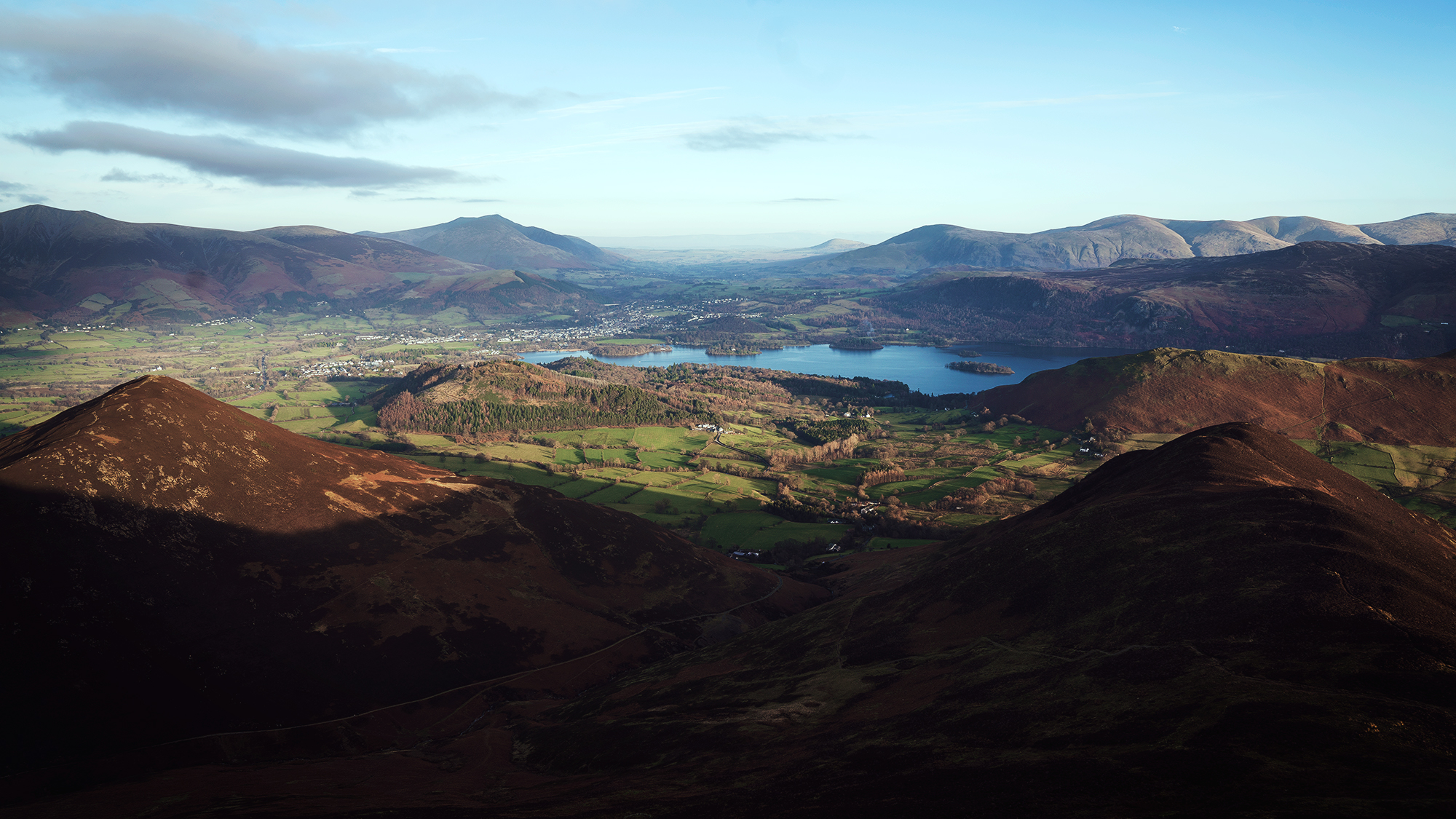 The view east from Causey Pike.