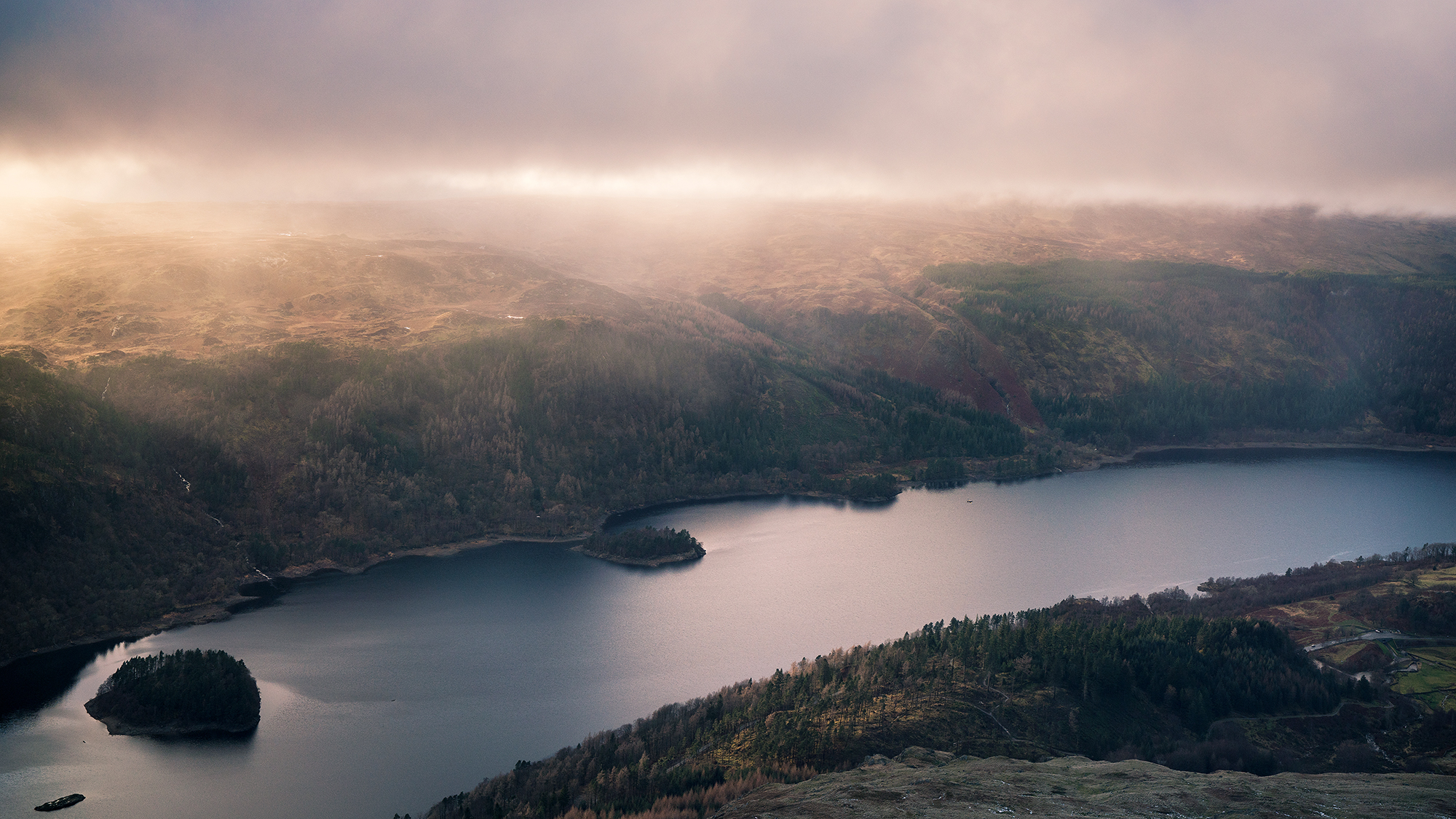 Sunset glow over Thirlmere