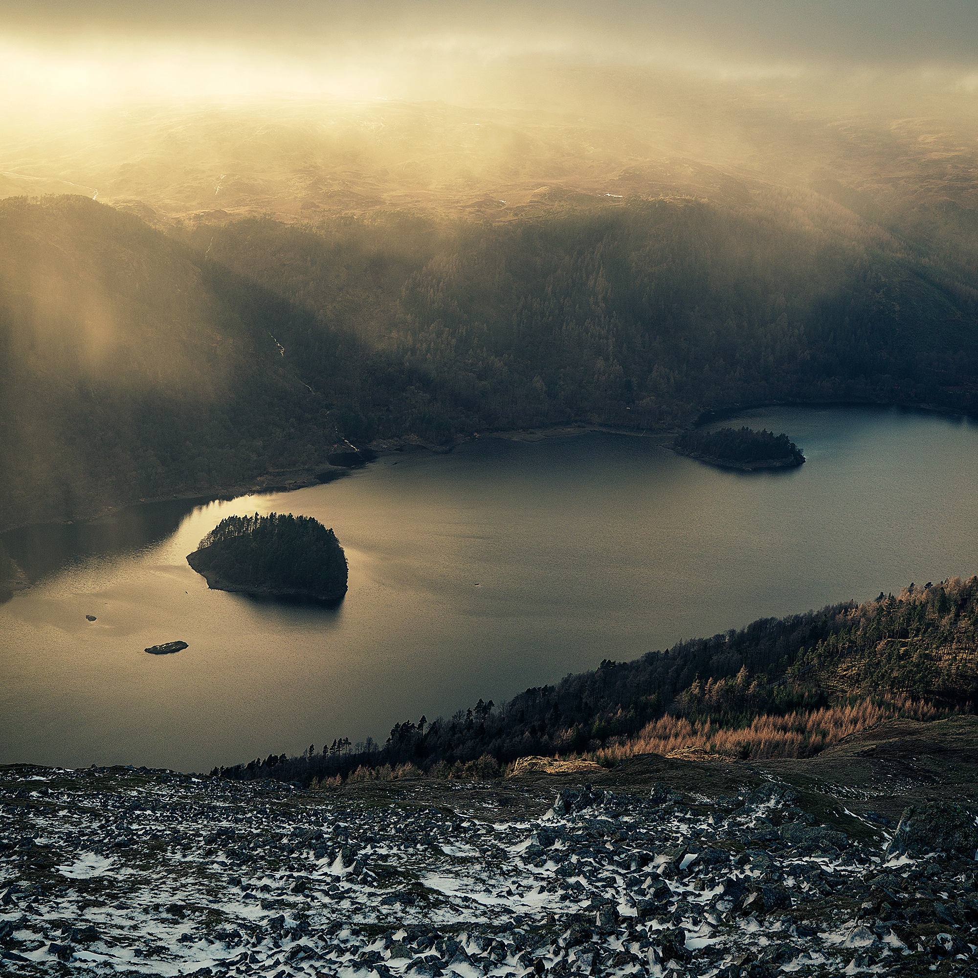 Thirlmere from Helvellyn Screes