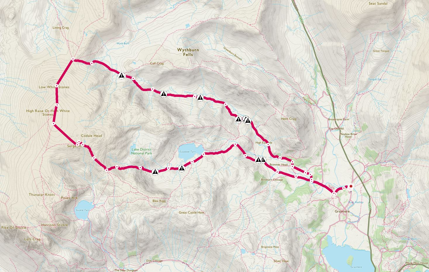 The route from Grasmere
