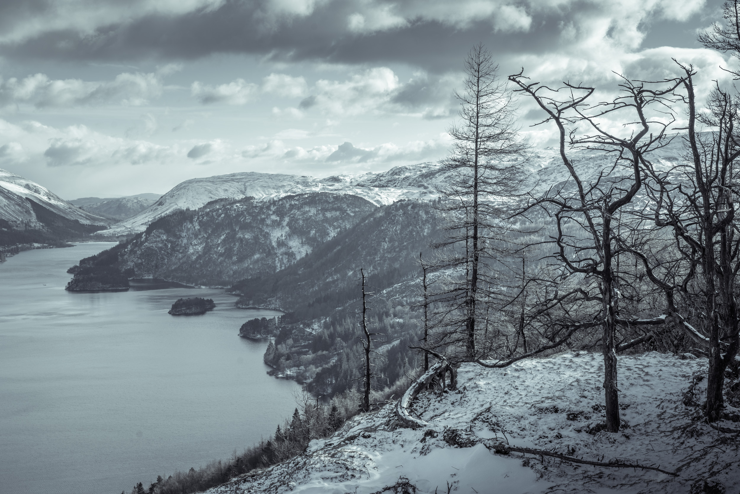 Thirlmere in snow