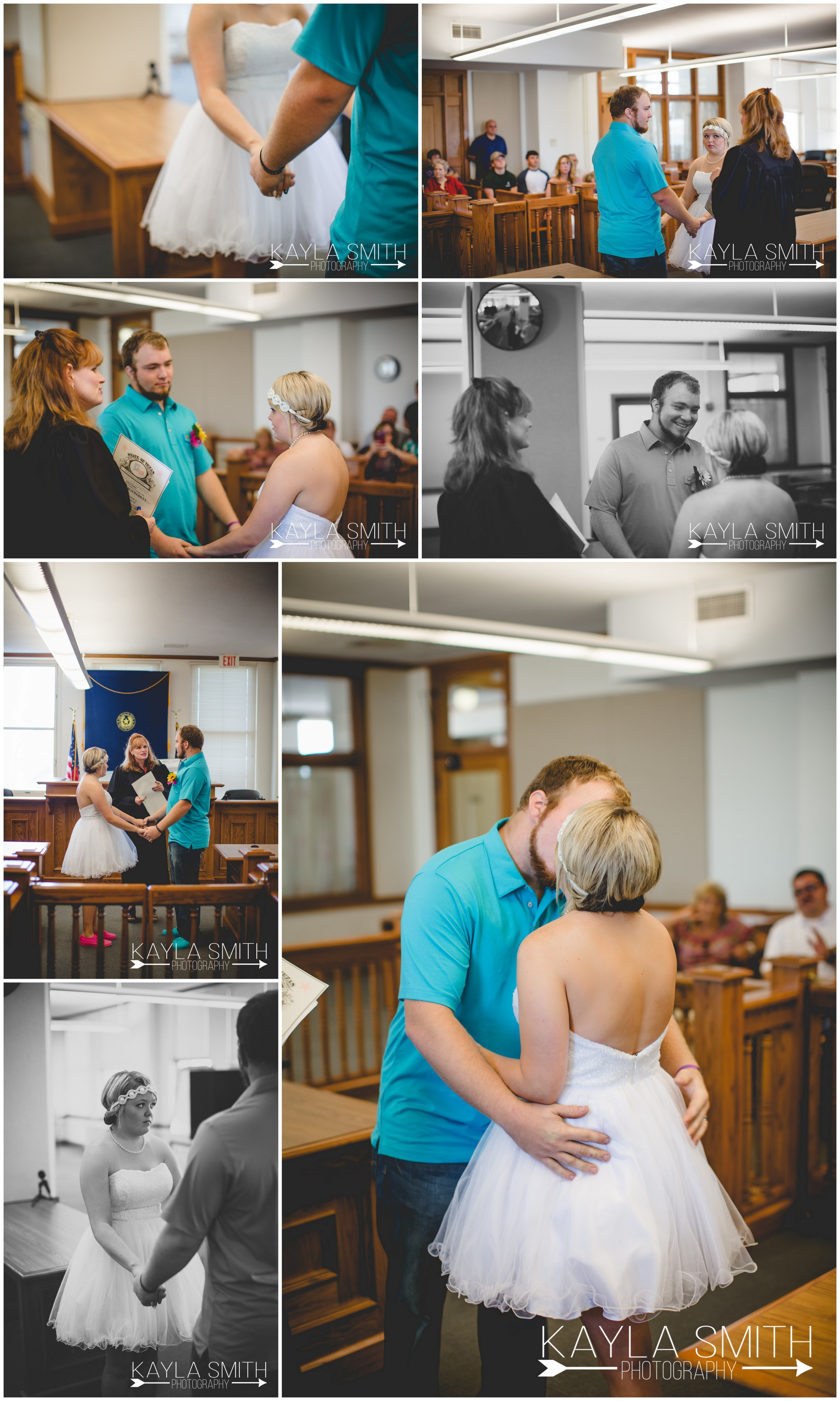 The couple eloped in the Santa Fe Building in downtown Amarillo.