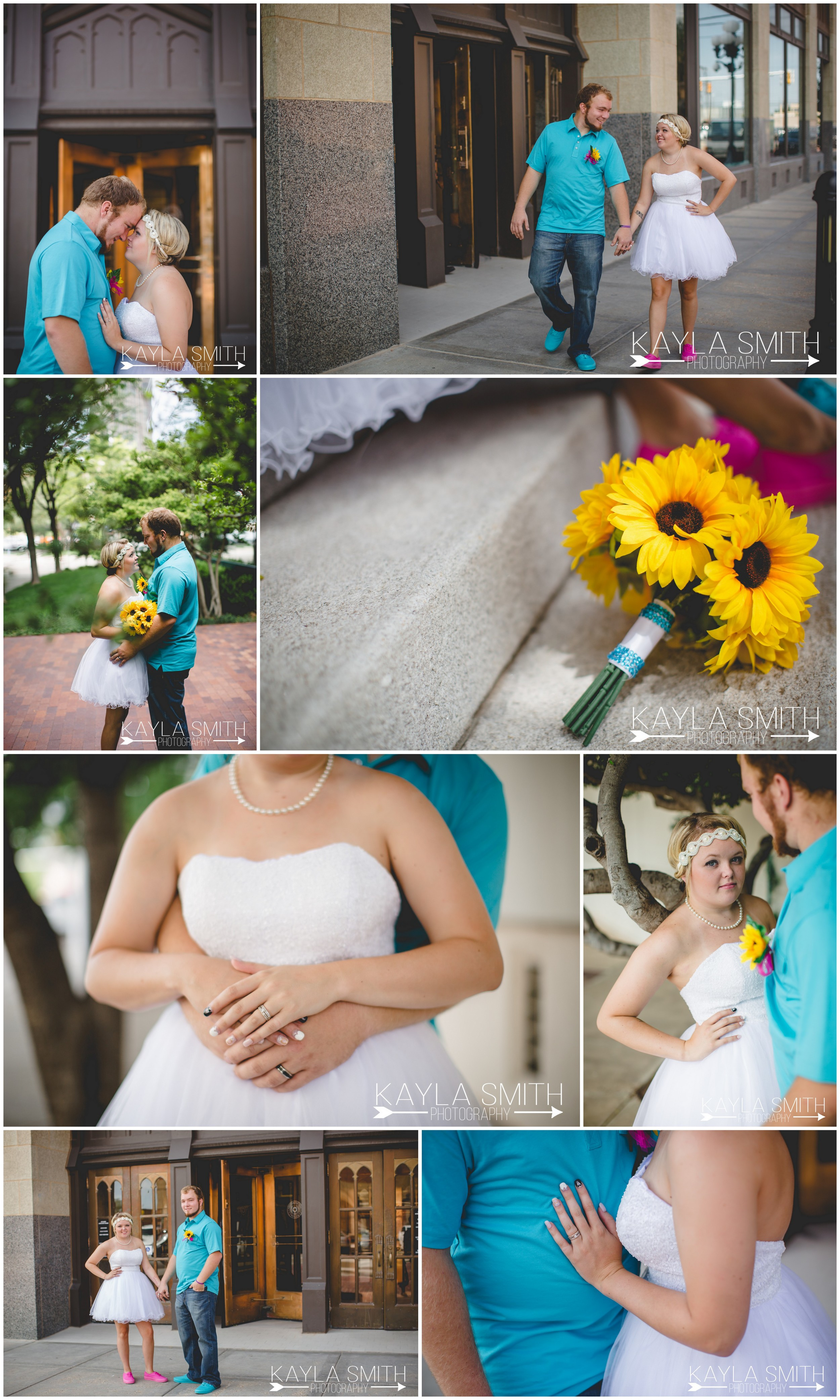 Then we took to the streets of downtown Amarillo for a post-vow photo session.