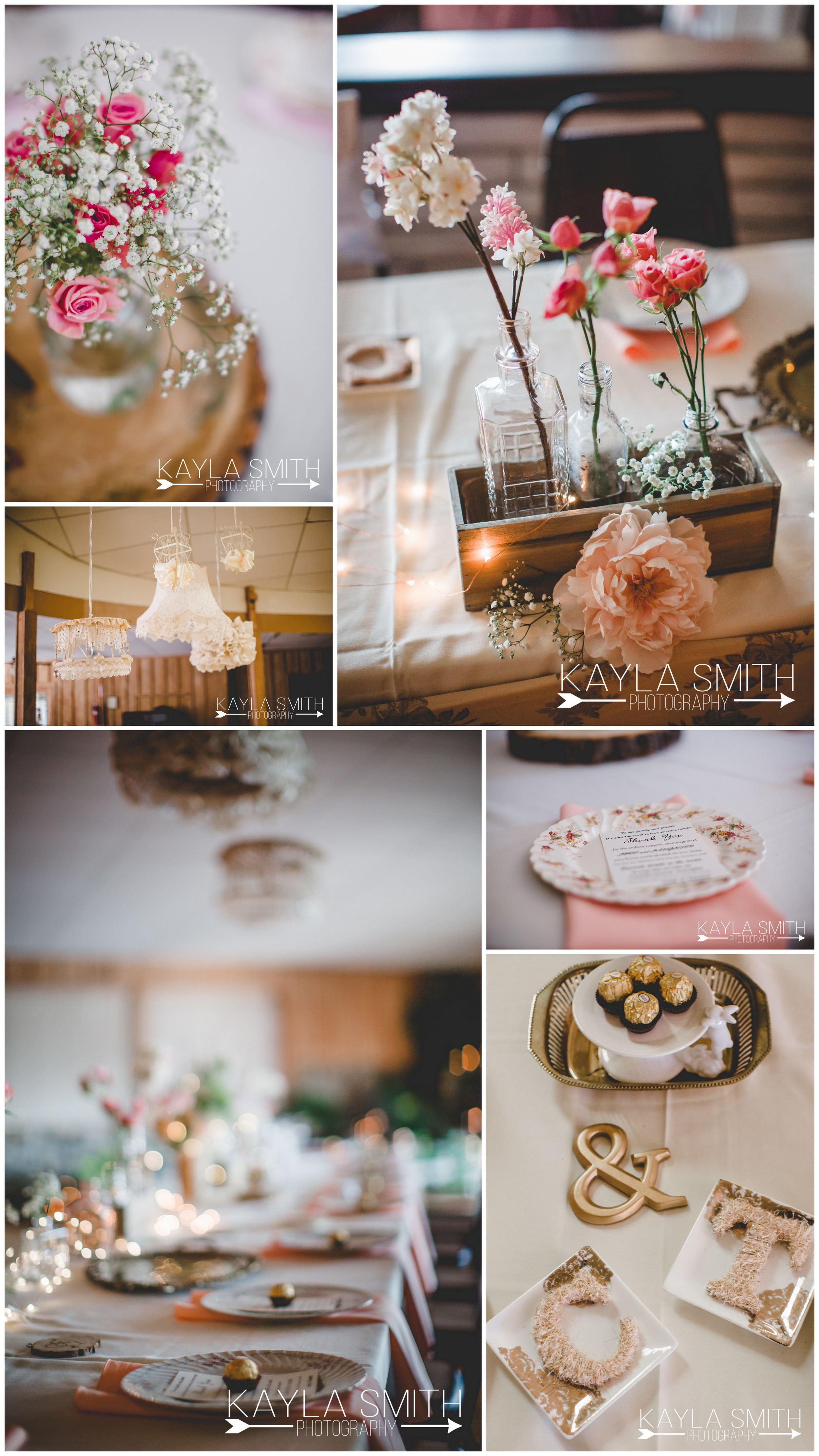The couple had some of the most thought-out details I have seen. I loved the vintage, homemade flair. My favorite detail was the vintage plates that they used to serve their guests dinner.