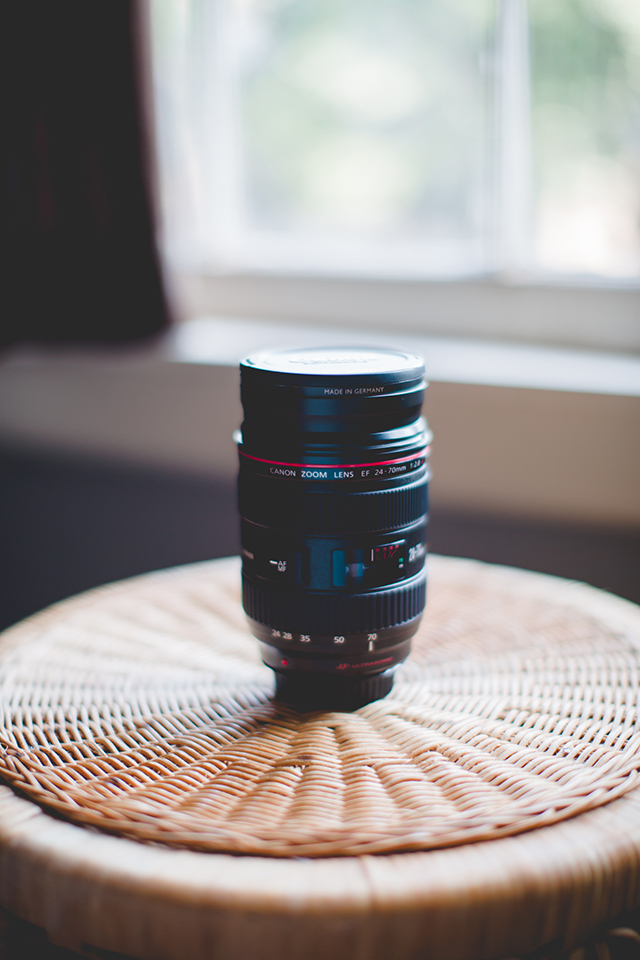 The Canon 24-70 f/2.8L lens is a great versatile lens that works well for family photos and any time I need a wide angle.