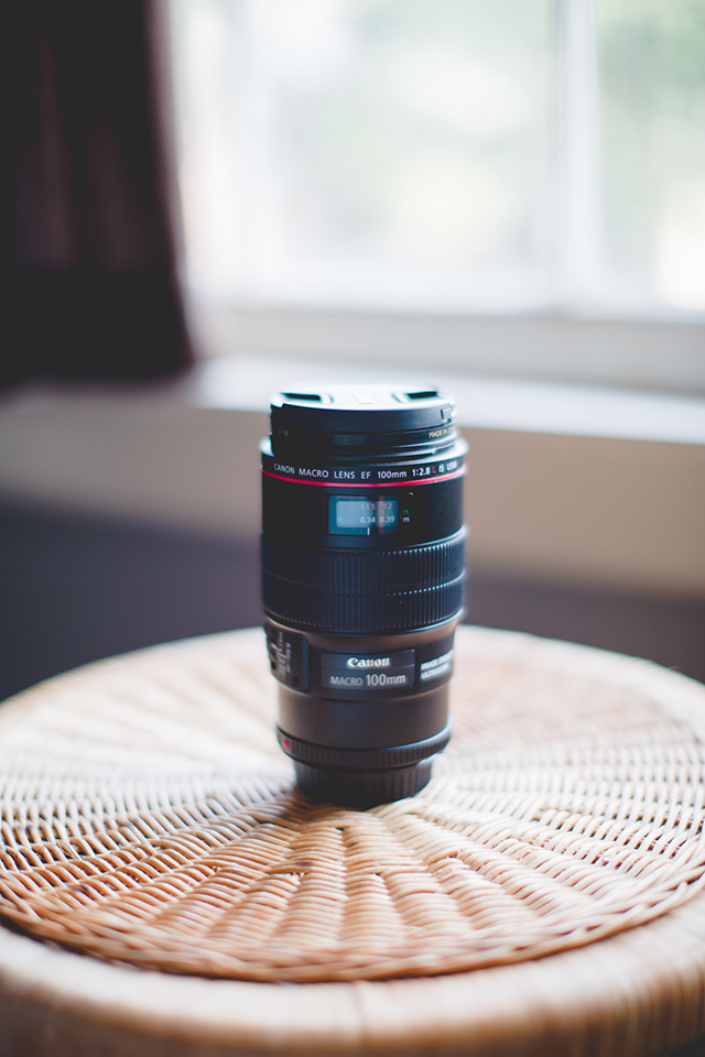 The Canon 100mm f/2.8L Macro is used for extreme close up shots. The only time that I use it is for wedding detail shots like rings.