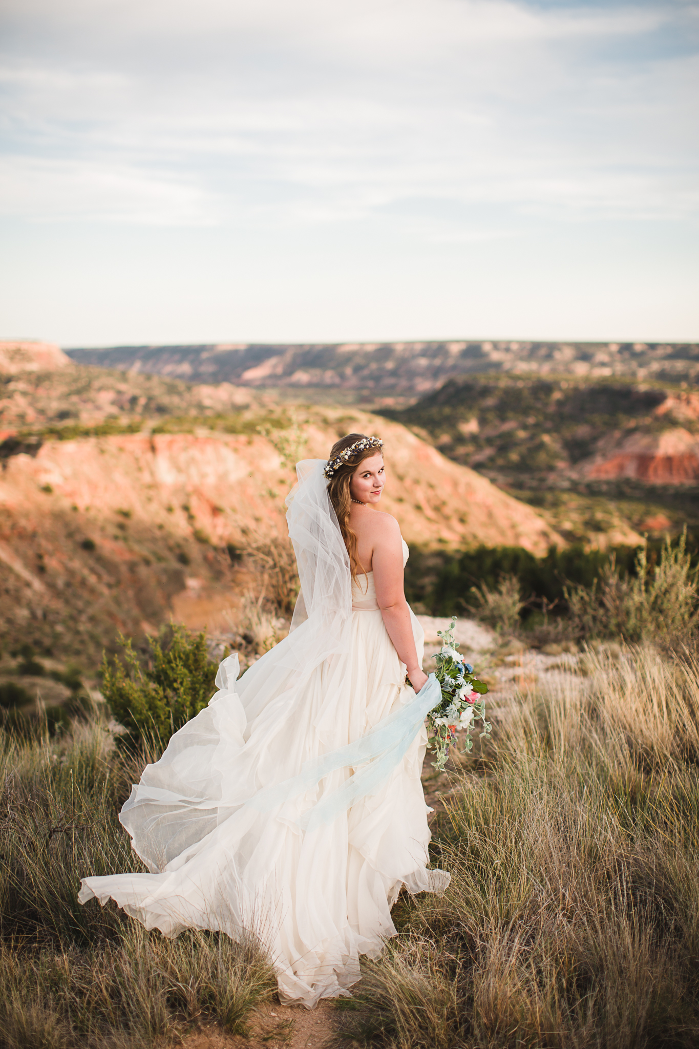 When I took this photo I about died - the dress, her smile, the wind - it was a perfect moment.