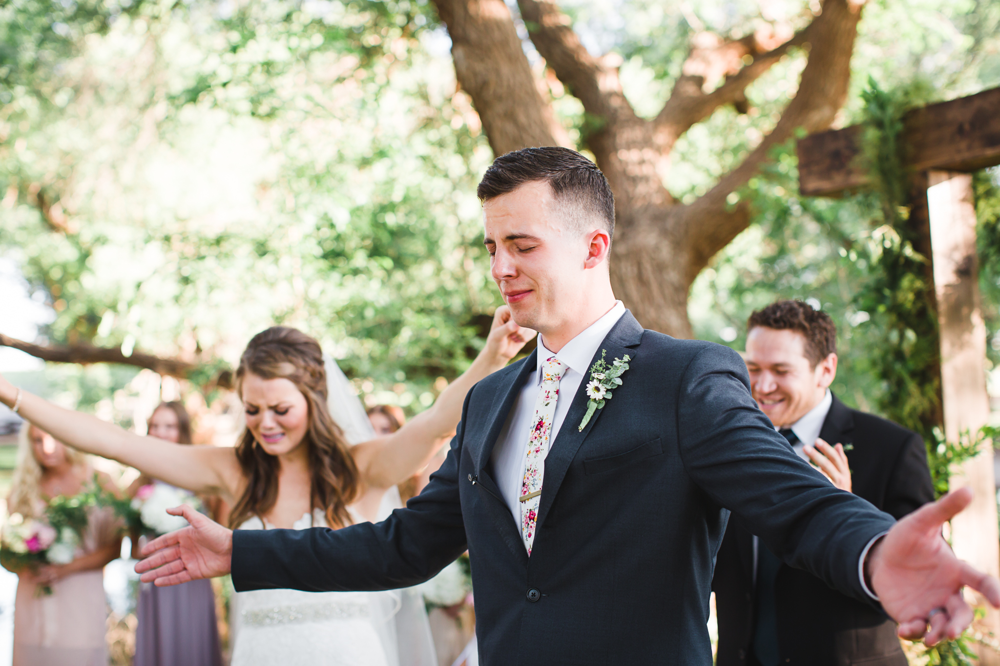 Channing and Josiah were not afraid to show all of the emotions they were feeling on their wedding day. This moment of worship and abandon was unforgettable.