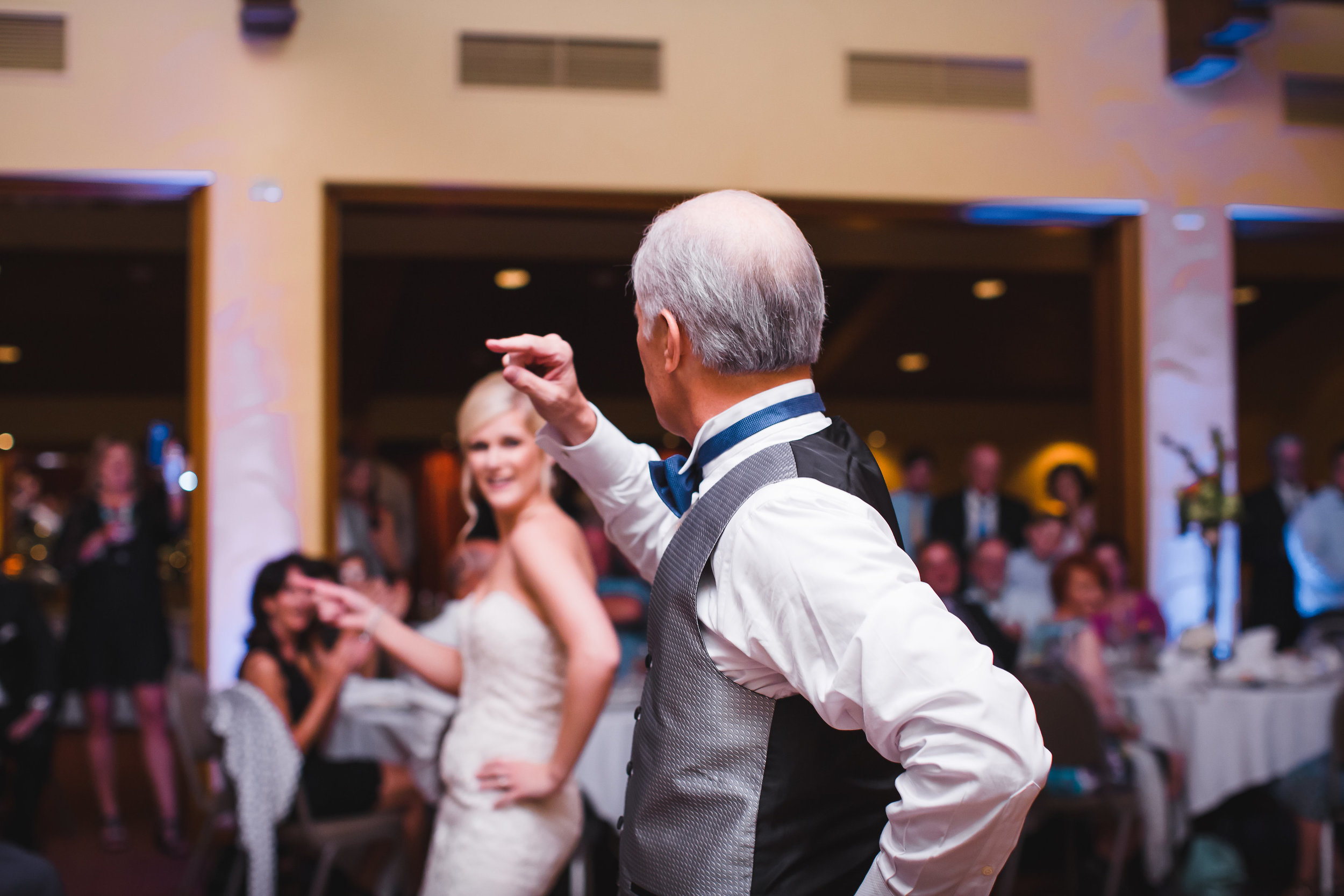 The bride and her dad did an AMAZING choreographed father/daugther dance.