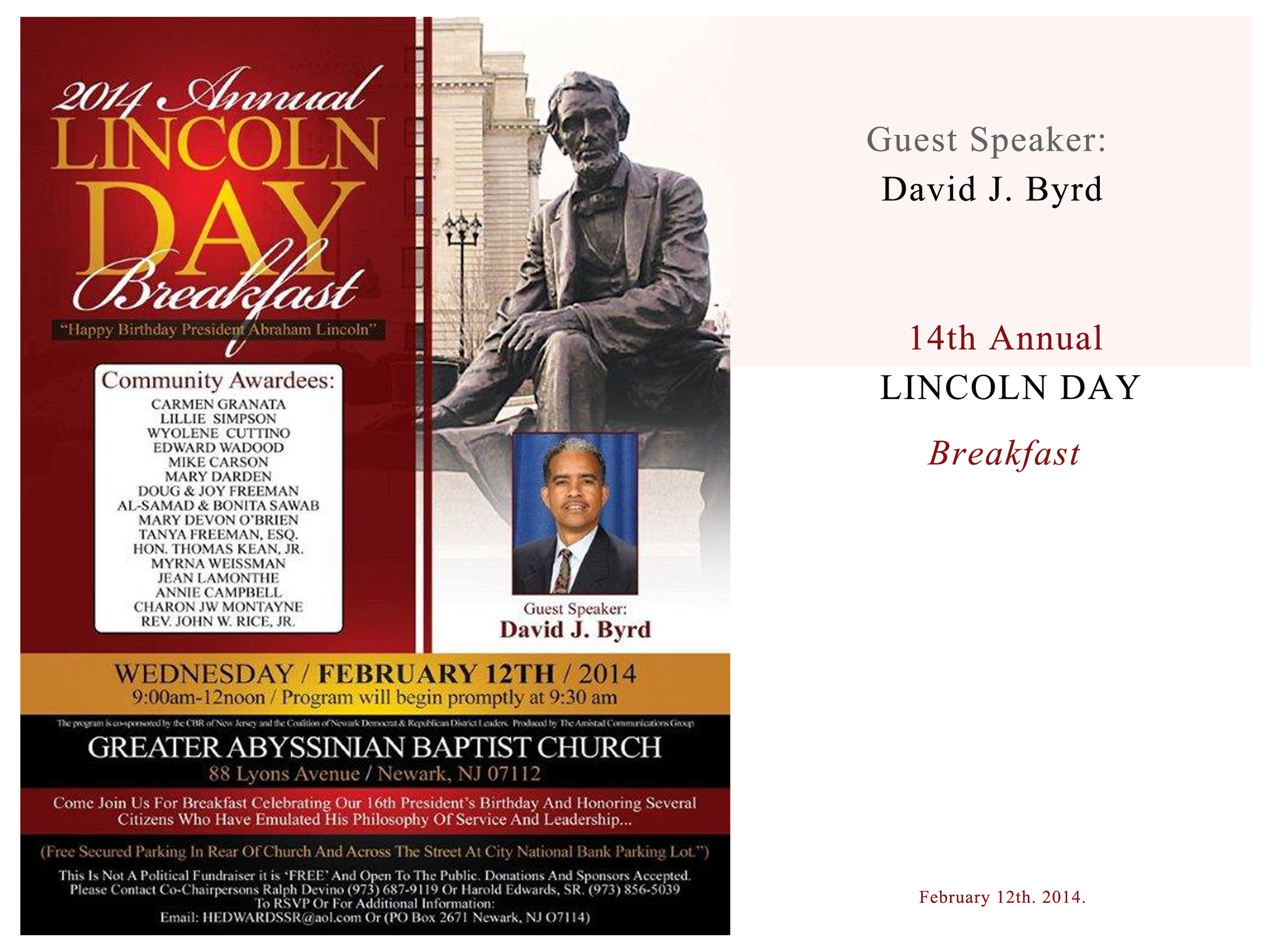 Lincoln Day Breakfast Event